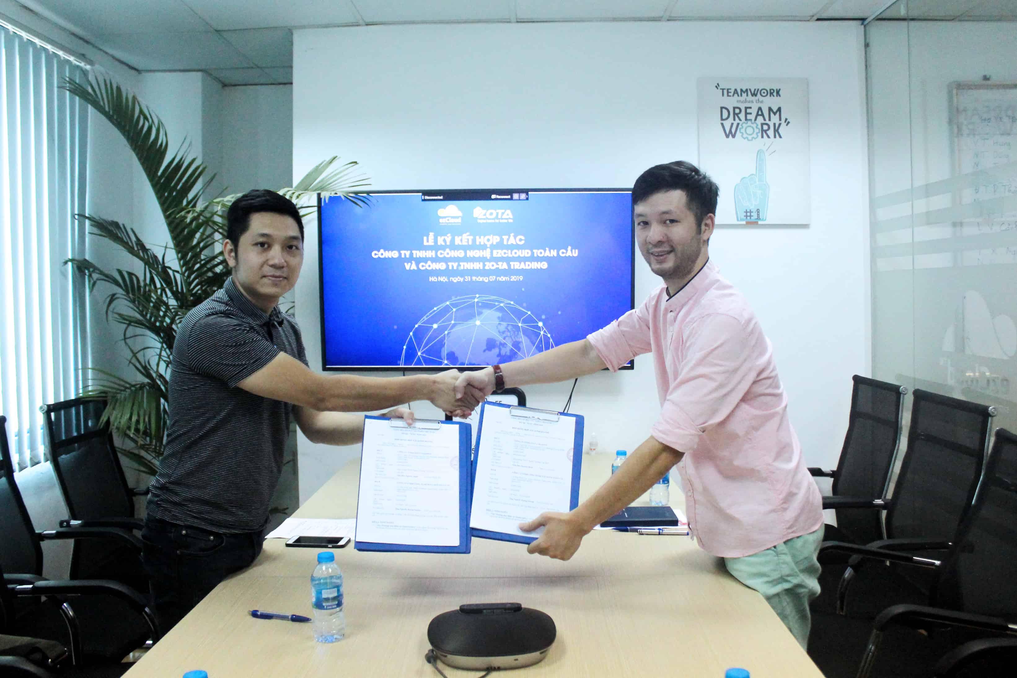 OneInventory và ZO-TA TRADING ký kết hợp tác kinh doanh